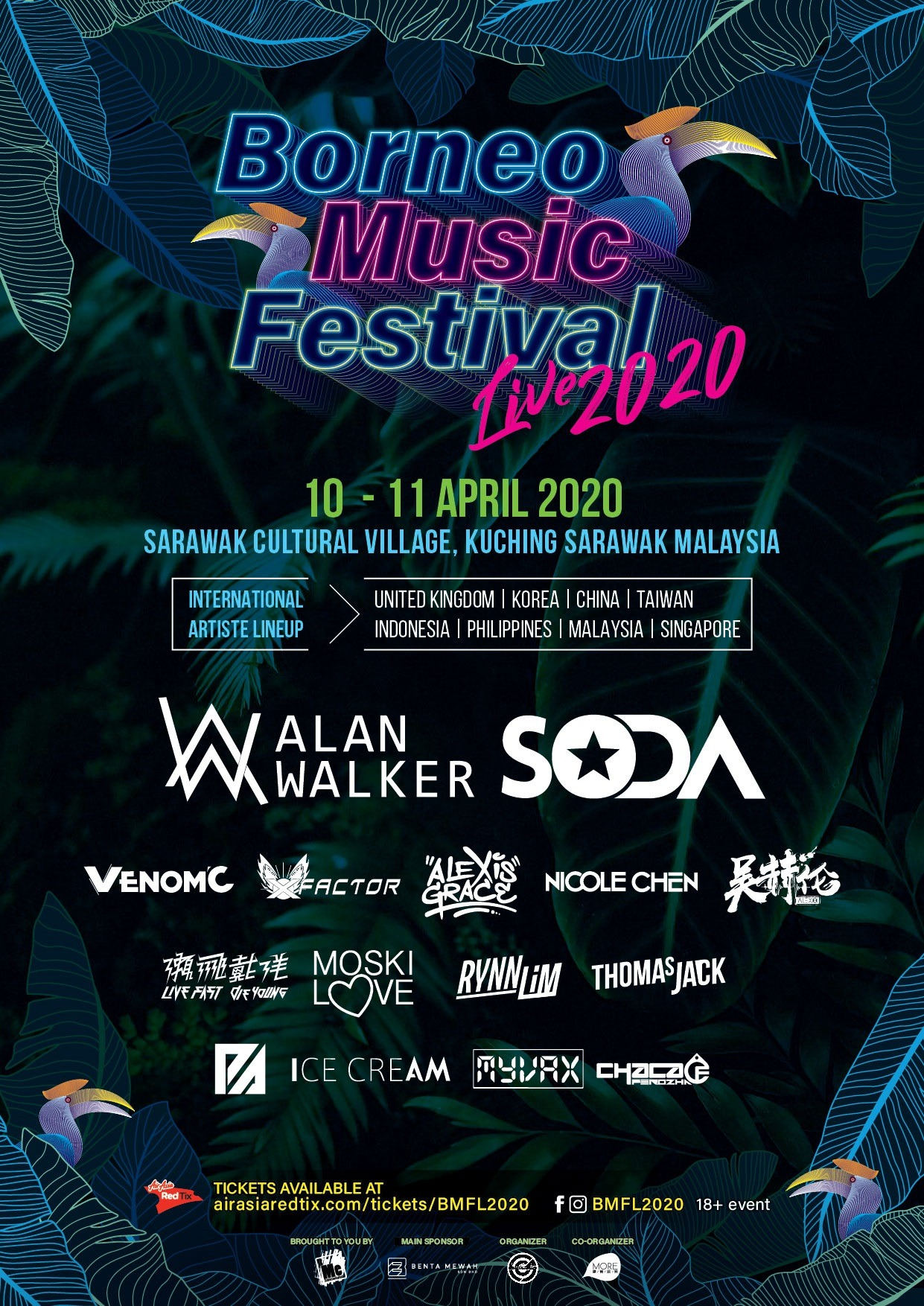Borneo Music Festival Live 2020 Poster