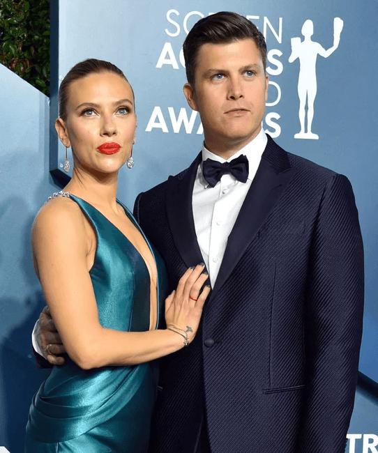 Scarlett Johansson & Colin Jost SAG Awards 2020