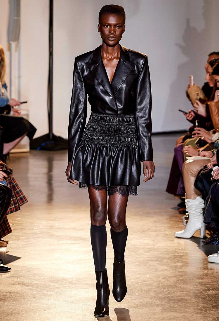 leatherlike couture nyfw fall 2020