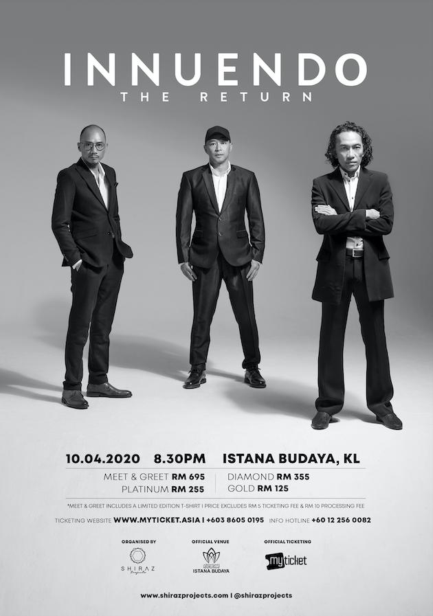 Poster Konsert Innuendo The Return 2020